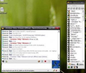 Mein Miranda ohne Skins unter Windows XP, Anfang 2009